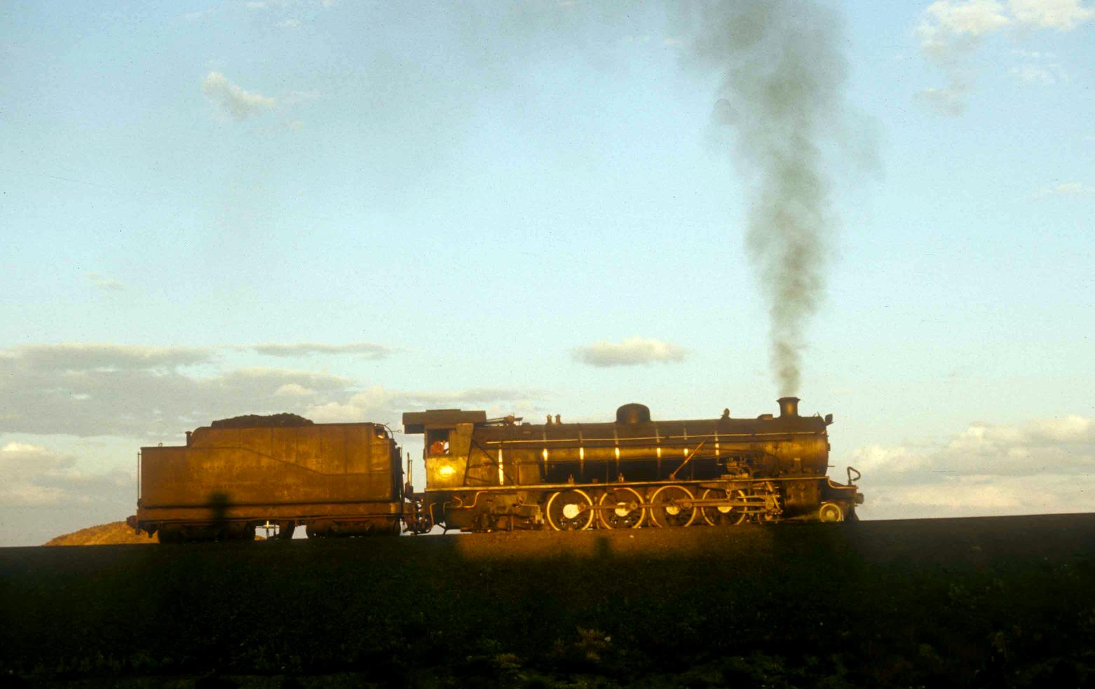 De Aar South Africa  city photo : steam in southern africa 1973 1999 the sun is setting at de aar on the ...